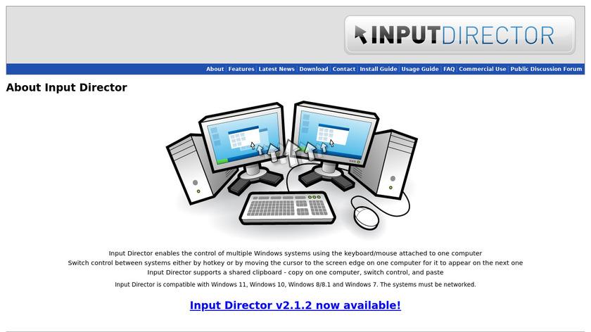 Input Director Landing Page