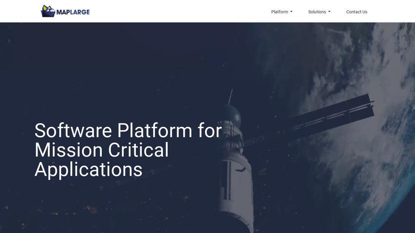 MapLarge Landing Page