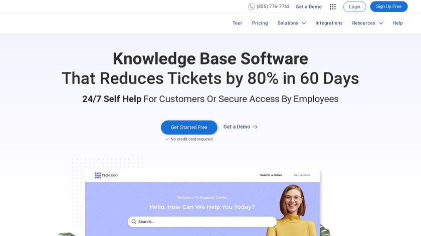 ProProfs Knowledgebase Landing Page