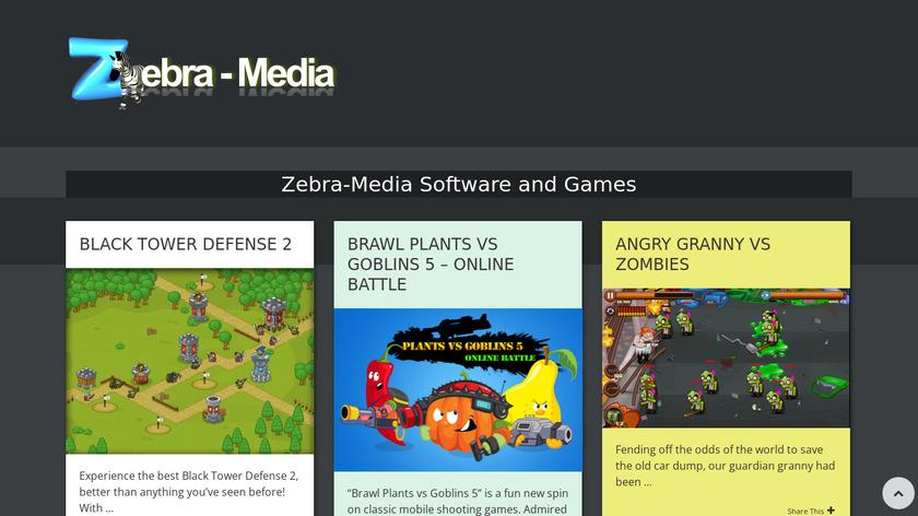 Zebra-Media Surveillance System Landing Page
