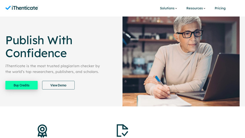iThenticate Landing Page
