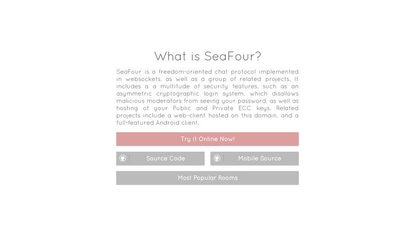 SeaFour.club Landing Page