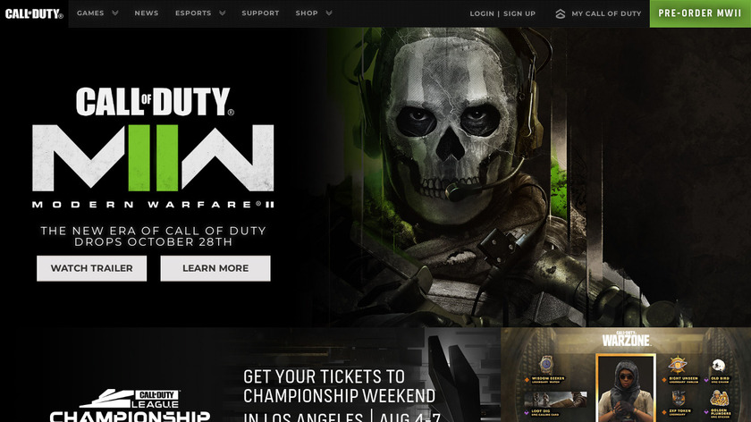 Call of Duty Landing Page