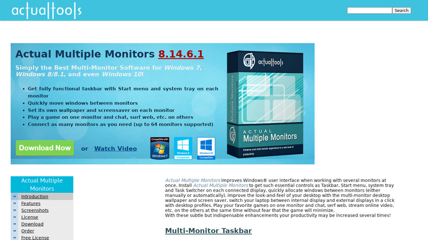 Actual Multiple Monitors Landing Page