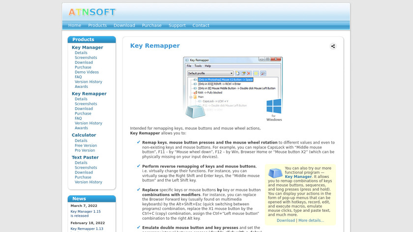 Key Remapper Landing Page