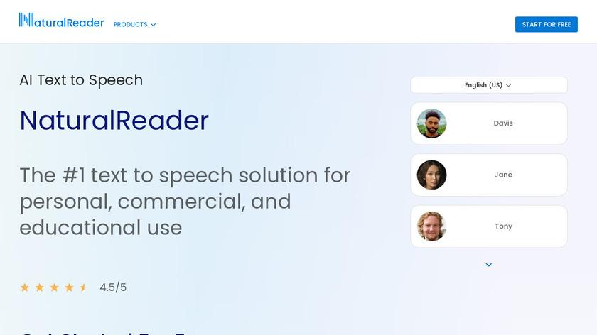 NaturalReader Landing Page