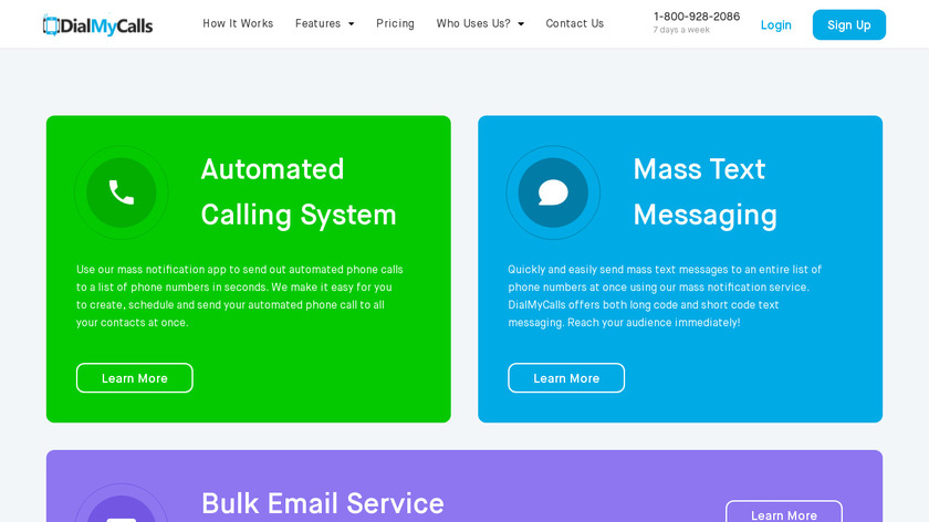 DialMyCalls Landing Page