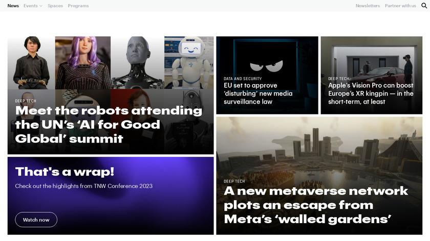 The Next Web Landing Page