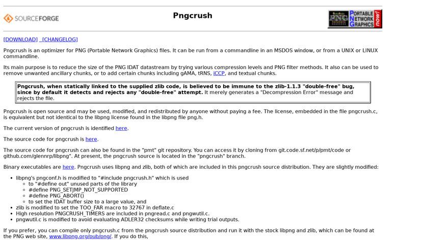 pngcrush Landing Page