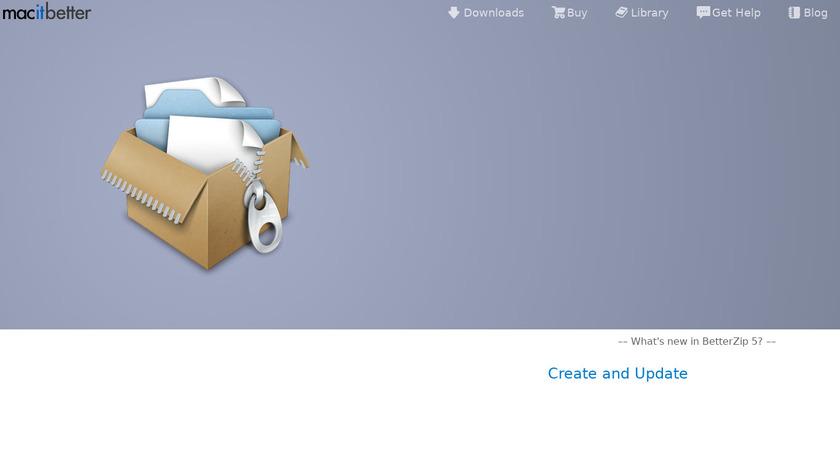 BetterZip Landing Page