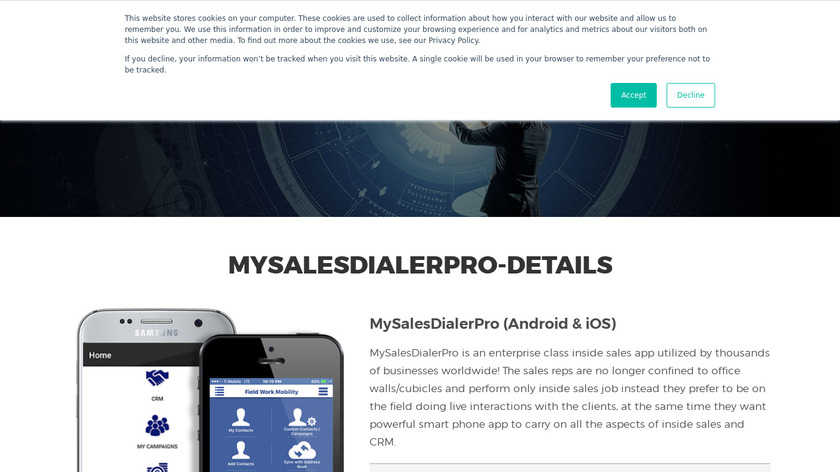 MySalesDialerPro Landing Page