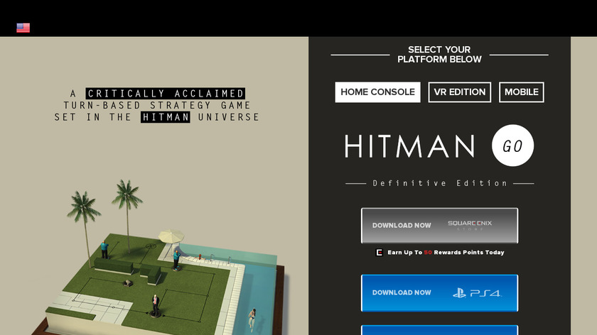 Hitman GO Landing Page