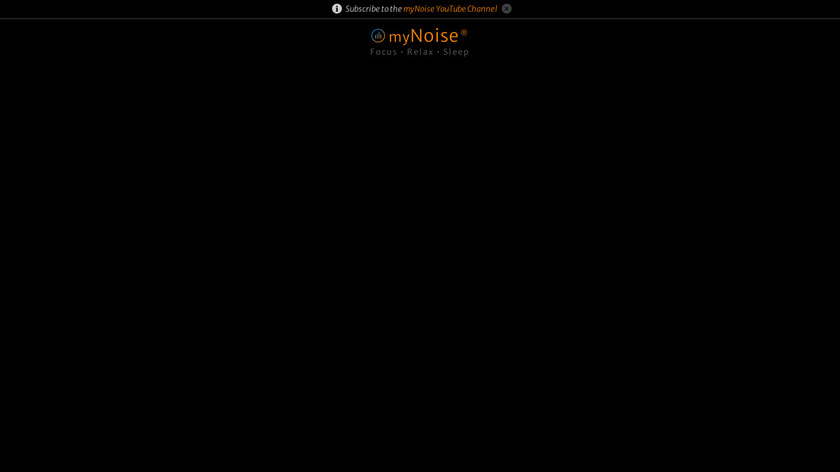 MyNoise Landing Page