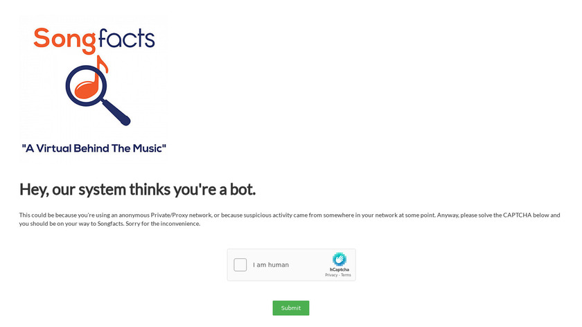Songfacts Landing Page