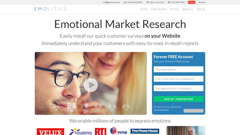 Emolytics Landing Page