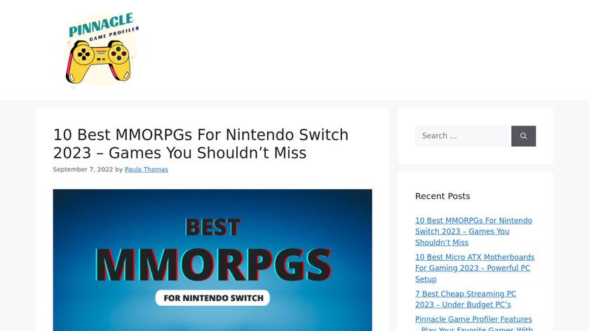 Pinnacle Game Profiler Landing Page