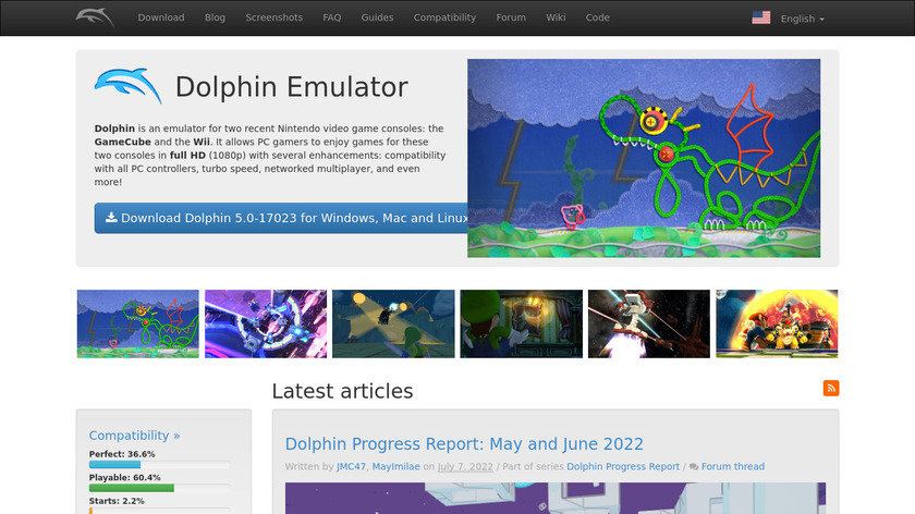 Dolphin Emulator Landing Page