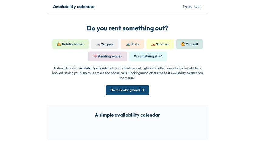 AvailabilityCalendar.com Landing Page