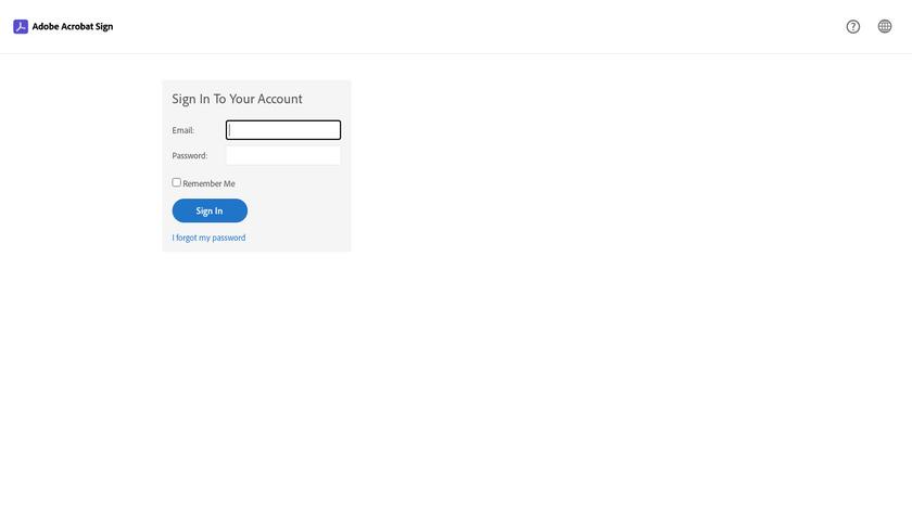 Adobe Echosign Landing Page