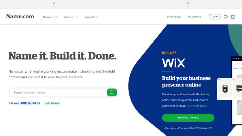 Name.com Landing Page