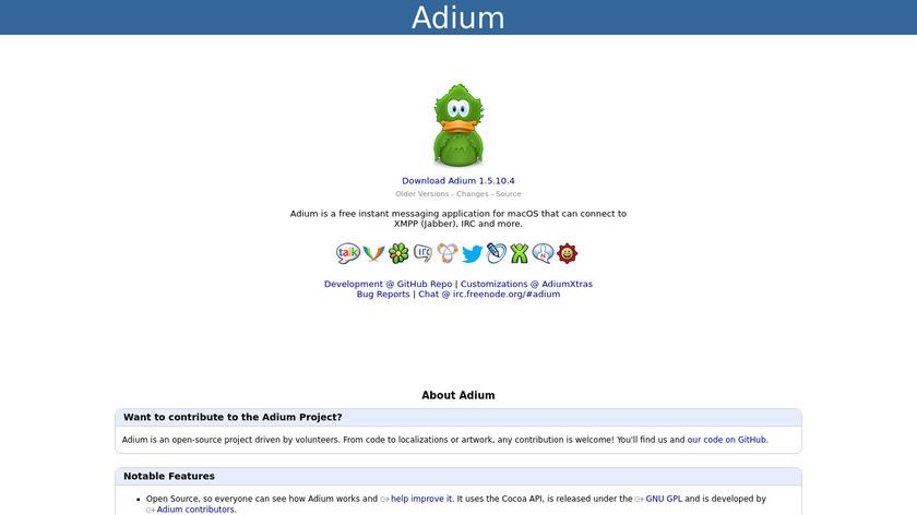 Adium Landing Page