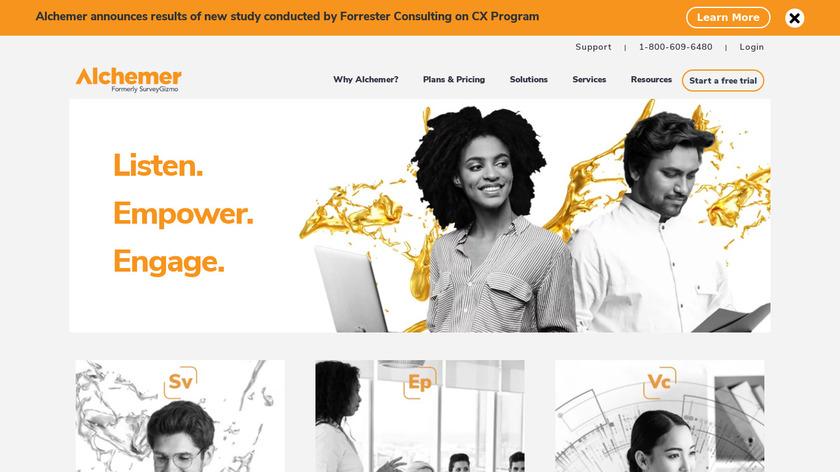 SurveyGizmo Landing Page