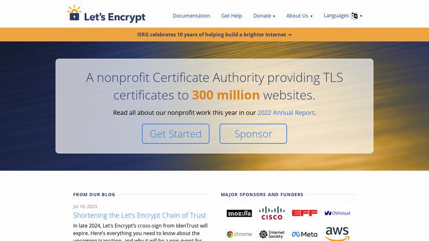 Let's Encrypt Landing Page