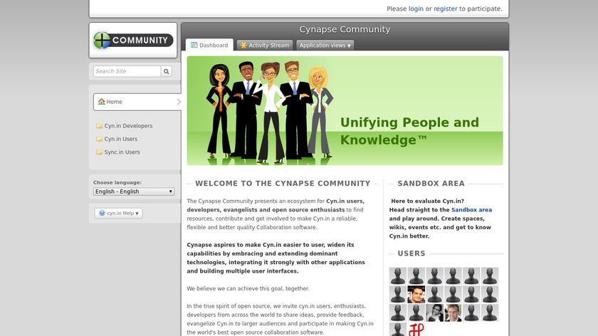 Cyn.in Landing Page