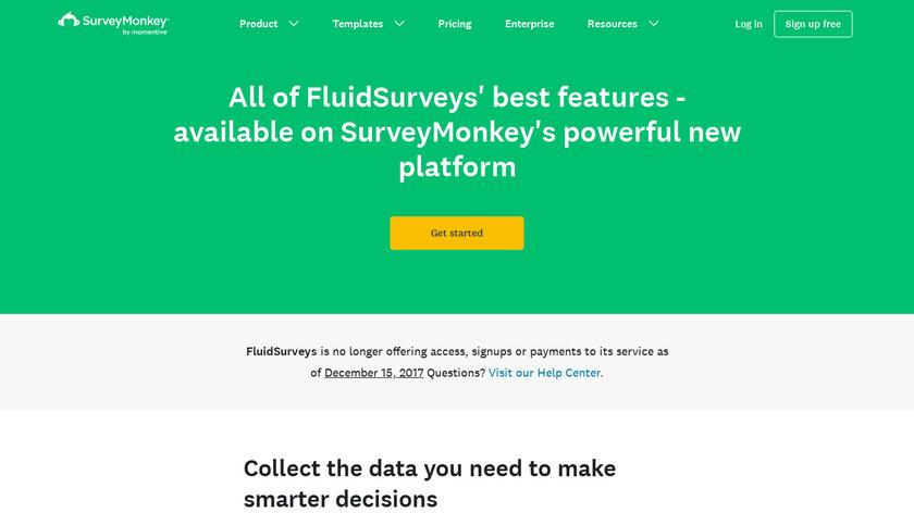 FluidSurveys Landing Page