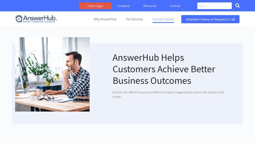 AnswerHub Landing Page