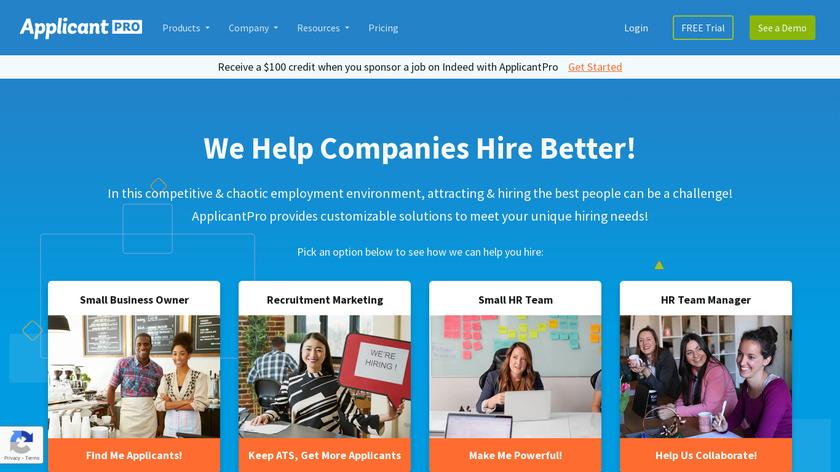 ApplicantPRO Landing Page