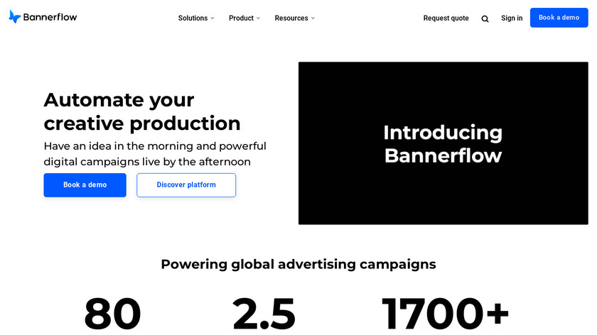 BannerFlow Landing Page