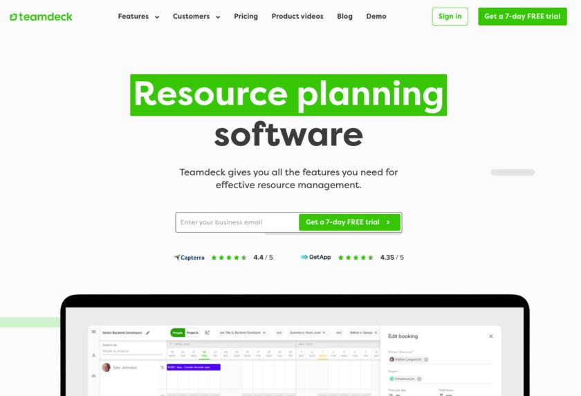 teamdeck Landing Page