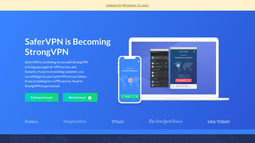 SaferVPN Landing Page
