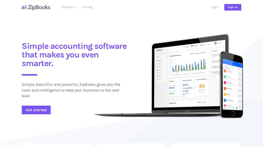 ZipBooks Landing Page