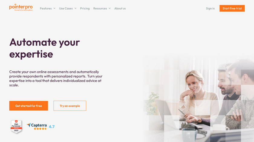 Survey Anyplace Landing Page