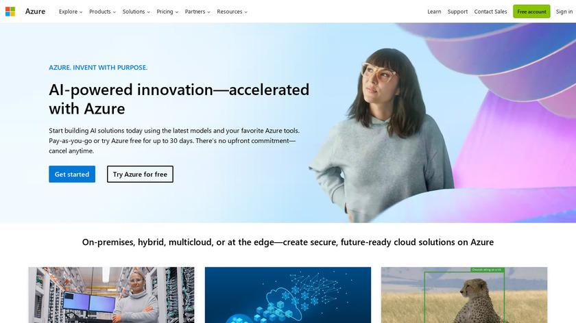 Microsoft Azure Landing Page