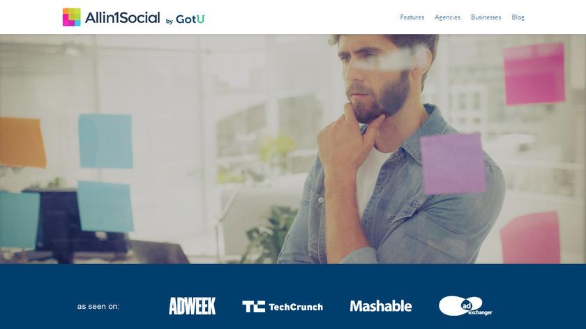 Allin1Social Landing Page