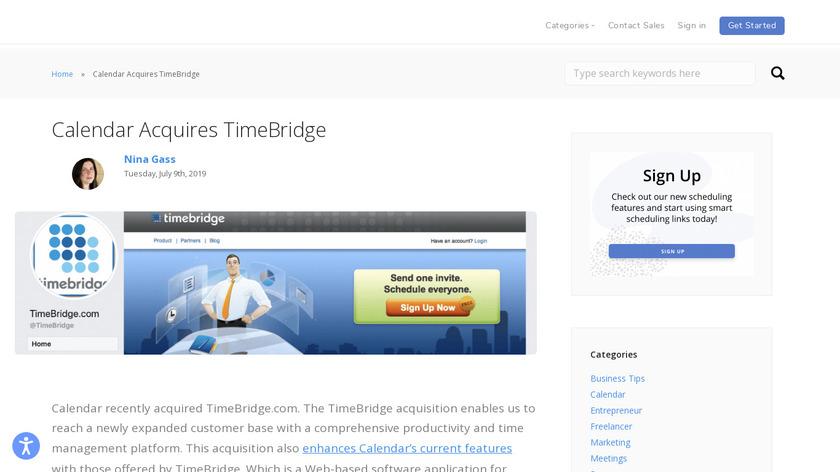 TimeBridge Landing Page