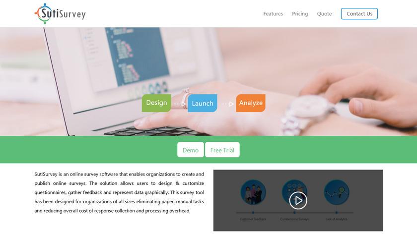 SutiSurvey Landing Page