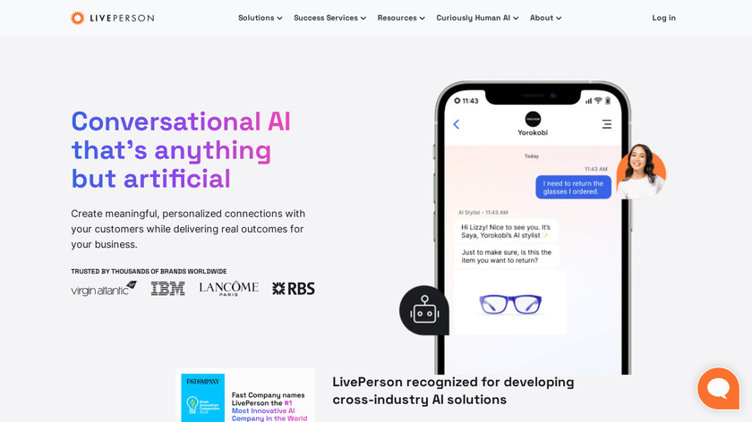 LivePerson Landing Page