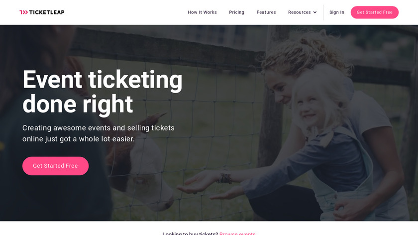 TicketLeap Landing Page