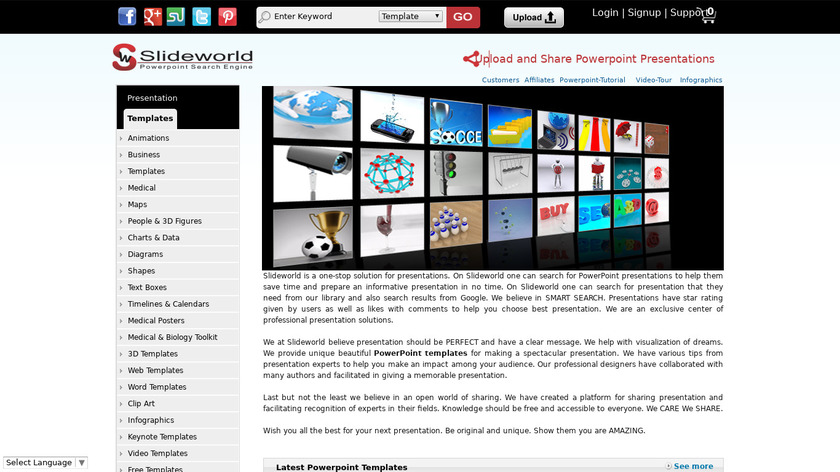 SlideWorld Landing Page