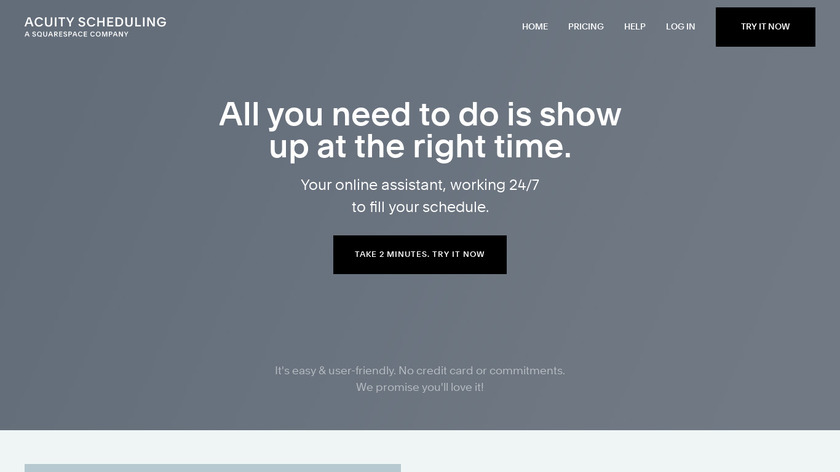 Acuity Scheduling Landing Page