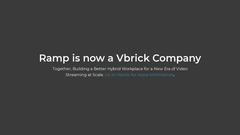 Ramp eCDN Landing Page