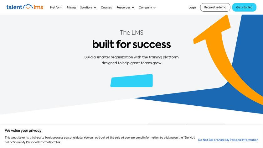 Talent LMS Landing Page