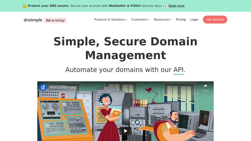 DNSimple Landing Page