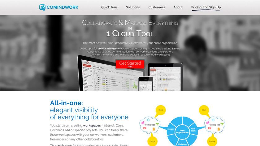 Comindwork Landing Page