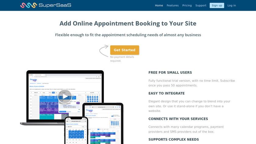 SuperSaaS Landing Page