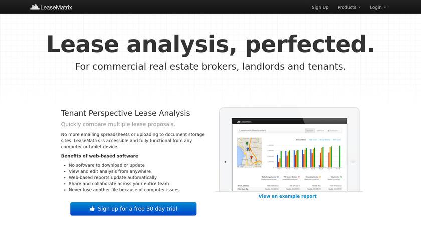 LeaseMatrix Landing Page